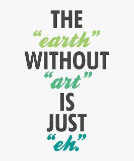 Earth Without Art Text