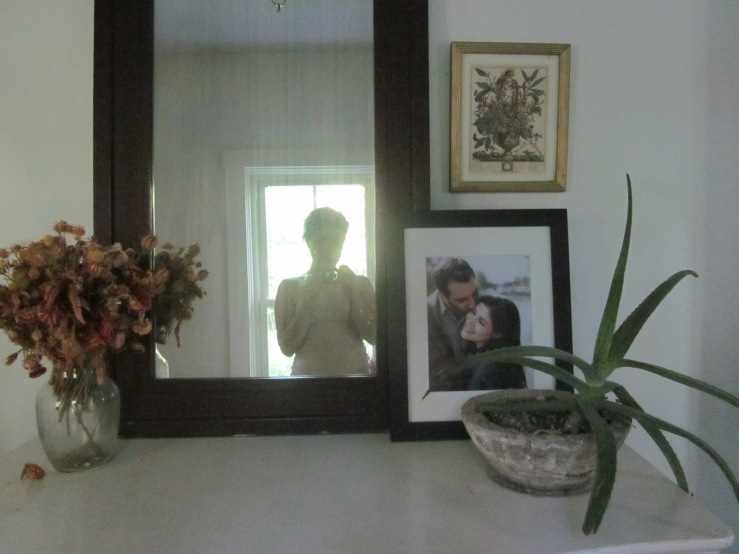 Mirror in hallway